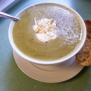 Chilled Zucchini Soup with Crème Fraîche