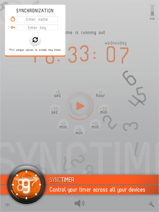 SyncTimer- screenshot
