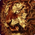 3D Flaming lion live wallpaper icon