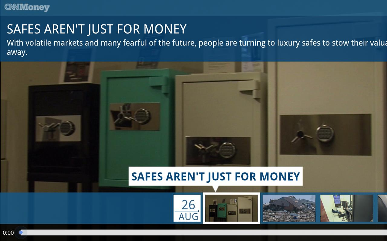 CNNMoney For Google TV- screenshot