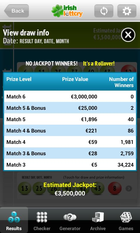Lotto.net Lottery App- screenshot