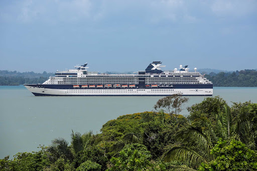 Celebrity_Infinity_Panama_Canal - The 2,170 passenger Celebrity Infinity sails down the Panama Canal.