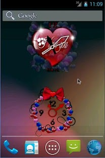 Valentine Clock Widgets Free - screenshot thumbnail