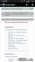 Screenshot of Mnemosine E-learning