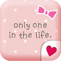 Cute wallpaper★Pink polka dots icon