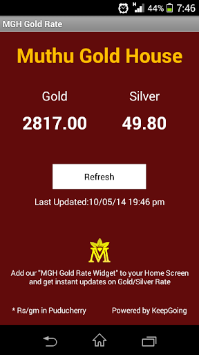 MGH GOLD RATE