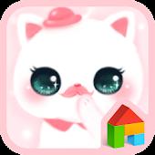 hello nyang pink dodol theme
