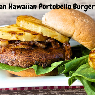 Vegan Hawaiian Portobello Burgers.