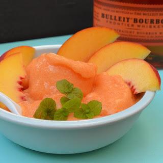 Bourbon Peach Sorbet.