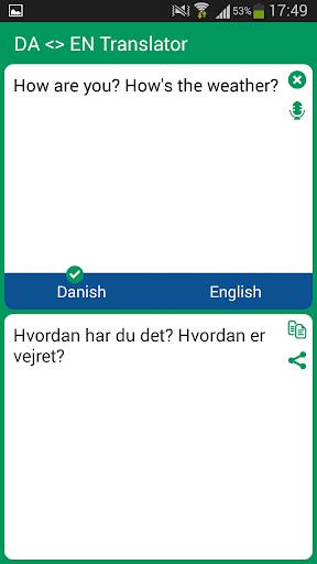 Danish - English Translator