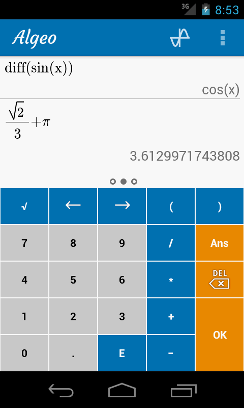 Algeo Graphing Calculator- screenshot