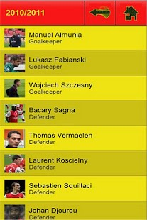 Arsenal Player Stats - screenshot thumbnail