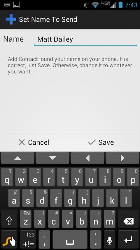 Add Contact- screenshot