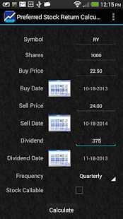 Preferred Stock Calculator