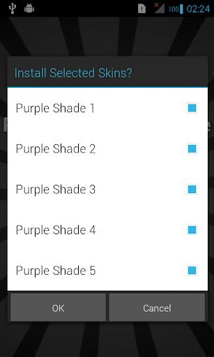 Purple Skins for iSense Music