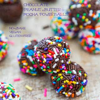 Chocolate Peanut Butter Mocha Powerballs.