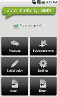 Auto Birthday SMS - screenshot thumbnail