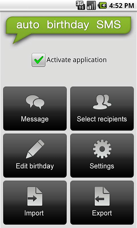 Auto Birthday SMS - screenshot