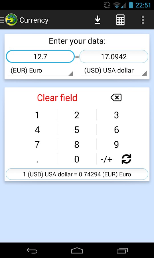 Universal Unit Converter- screenshot