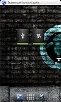 Screenshot of Tethering Widget
