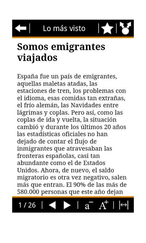 RSS El País- screenshot