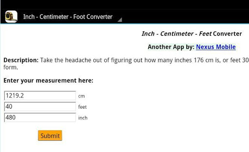 Height Converter - cm to feet - inches to feet