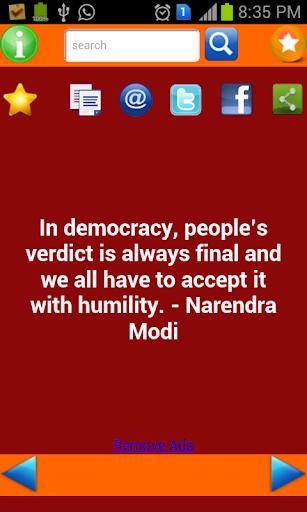 Quotes of Modi