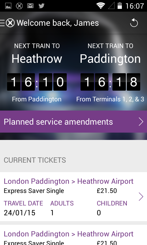 Heathrow Express- screenshot