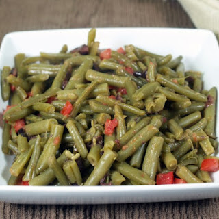 Green Beans With Tomato-Olive Butter