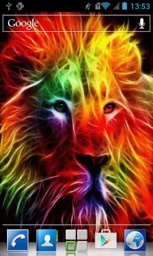 Variegated lion LWP