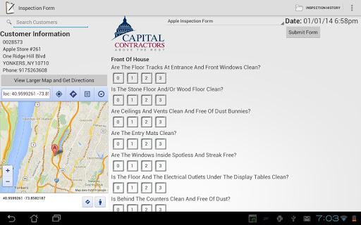 Capital Inspection Form