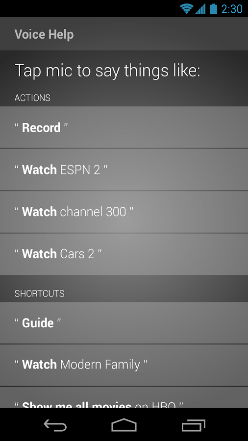 XFINITY TV X1 Remote - screenshot