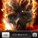 Fire Skull Go Locker Theme icon