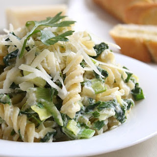 Creamy Leek And Parsley Pasta.