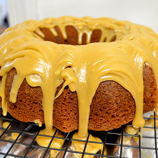 Applesauce Spice Cake With Butter Caramel Glaze