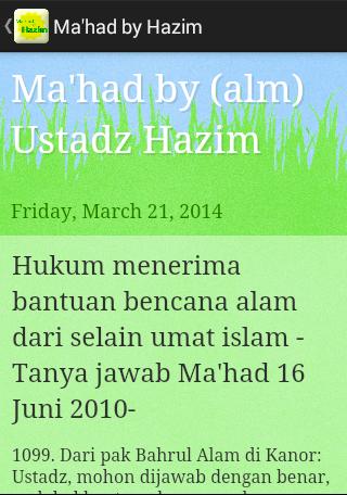 Ma'had by Hazim