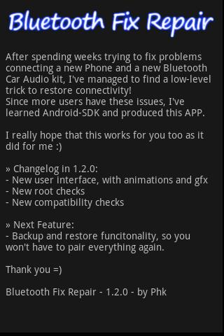 Bluetooth Fix Repair- screenshot