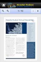 Screenshot of Alcester-Hudson Schools
