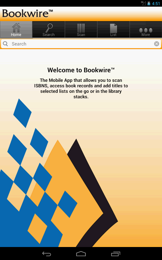 Bookwire- screenshot