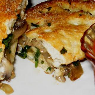 Turkey Sausage, Mushroom, Onion & Spinach Calzones