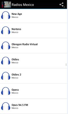 Radios Mexico - screenshot