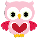 Hoot Pink Valentines icon
