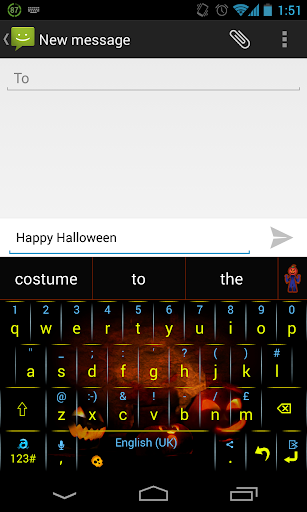 Adaptxt Phone Halloween theme