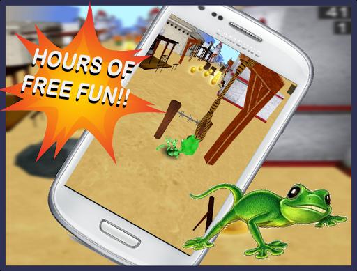 蜥蜴跑酷3D: 极速狂奔!
