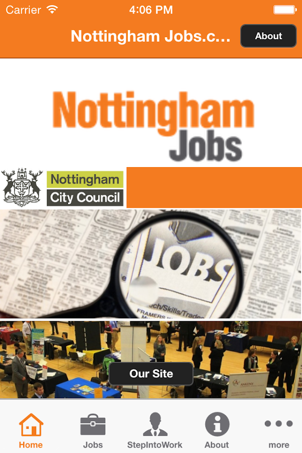 Nottingham Jobs.com- screenshot
