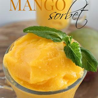 Mango Sorbet Dessert Recipes.