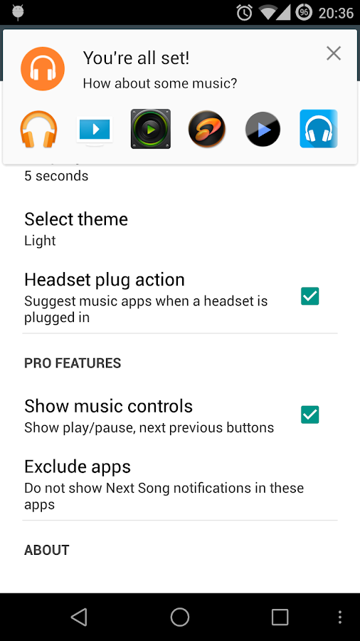 NextSong - Music Notifications- screenshot