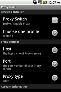 ProxyDroid - screenshot thumbnail