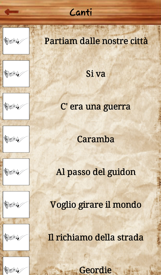 Quaderno di caccia- screenshot