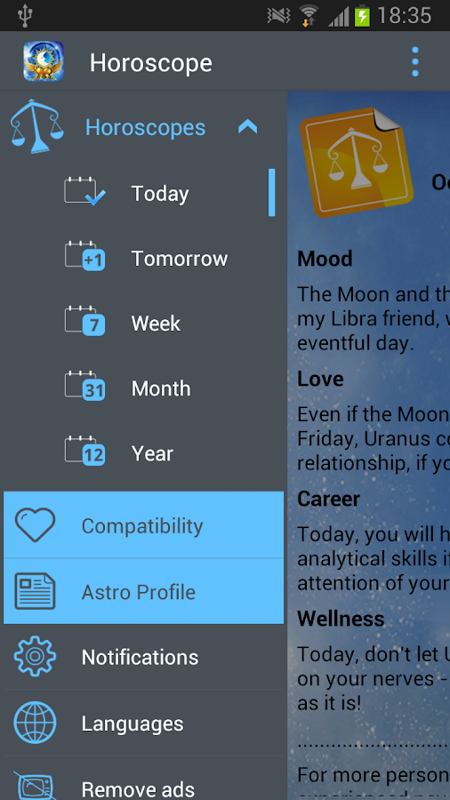 Horoscope- screenshot
